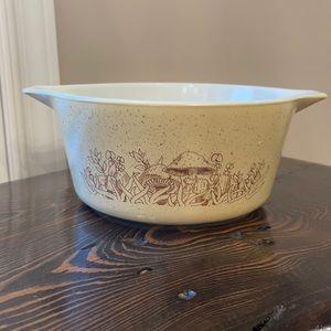Pyrex vintage Cookware 474-B forest fancies